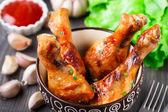 Baked chicken legs — Stock Photo