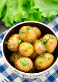 Potato with dill and scalliom — Stock Photo