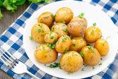 Potato with dill and scalliom — Stock Photo