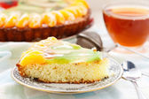 Cake with fruits — Stock Photo