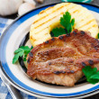 Stock Photo: Pineapple grilled pork chop