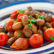 Roasted mushrooms with cherry tomatoes — Stock Photo #42815929