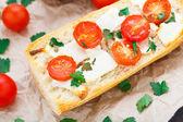 вегетарианский сэндвич багет — Стоковое фото