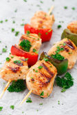 Grilled chicken skewers with paprika — Stock Photo
