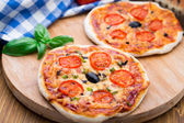 Vegetarian mini pizza — Stock Photo