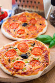 Mini pizza vegetariana — Foto de Stock