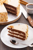 Moco cake with almond — Stock Photo