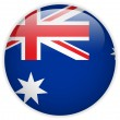Australia Flag Glossy Button — Stock Vector #12563628
