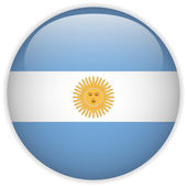 Argentina Flag Glossy Button — Stock Vector