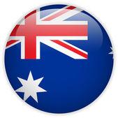 Australia Flag Glossy Button — Stock Vector