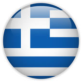 Greece Flag Glossy Button — Stock Vector
