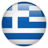 Greece Flag Glossy Button — Stock Vector