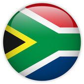 南非国旗光泽按钮 — 图库矢量图片