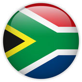 South Africa Flag Glossy Button — Stock Vector