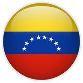 Venezuela Flag Glossy Button — Stock Vector
