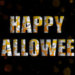 Wektor stockowy : Halloween Letters with Ghosts