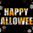 Vector de stock : Halloween Letters with Ghosts