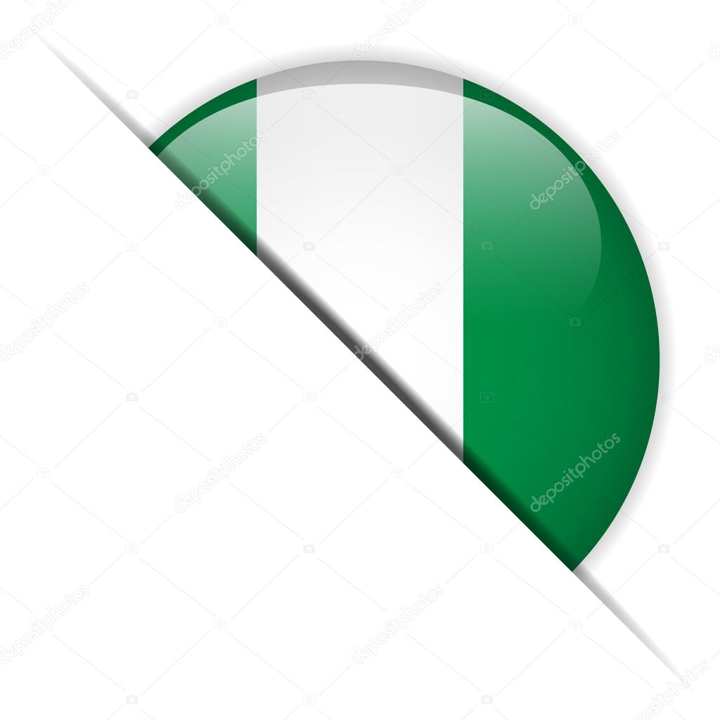 Vector - Nigeria Flag Glossy Button — Stock Vector #13391476
