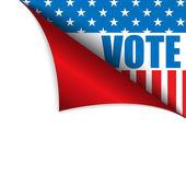 Vote United States of America Page Corner — Stock Vector