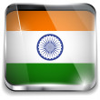 India Flag Smartphone Application Square Buttons — Stock Vector