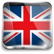 United Kingdom England Flag Smartphone Application Square Button — Stock Vector