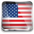 USA Flag Smartphone Application Square Buttons — Stock Vector