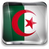 Algieria flaga smartphone aplikacja kwadratowe przyciski — Wektor stockowy