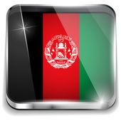 афганистан флаг смартфон приложения квадратные кнопки — Cтоковый вектор