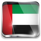 Arabskie flaga smartphone kwadratowe przyciski — Wektor stockowy