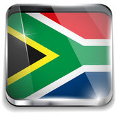South Africa Flag Smartphone Application Square Buttons — Stock Vector