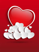 Valentines Day Heart Clouds — Stock Vector
