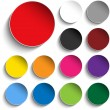 Set of Colorful Paper Circle Sticker Buttons — Image vectorielle