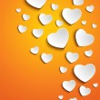 Valentine Day Heart on Yellow Background - Stock Vector