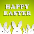 Happy Easter Rabbit Bunny on Green Background - Stock Vector