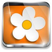 Voorjaar bloem in smartphone toepassing vak — Stockvector