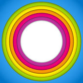 Colorful Frame with Circles Rainbow — Cтоковый вектор