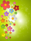 красивый весенний белые цветы фон — Cтоковый вектор