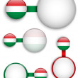 Vector - Hungary Country Set of Banners — Stock Vector #24182325