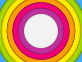 Colorful Frame with Circles Rainbow — Stock Vector