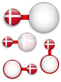 Vector - Denmark Country Set of Banners — Stock Vector