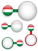 Vector - Hungary Country Set of Banners — Stock Vector