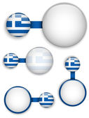 Vector - Greece Country Set of Banners — Stock Vector