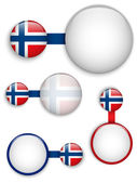 Vector - Norway Country Set of Banners — Stock Vector