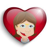 Sfondo cuore di madre felice giorno — Vettoriale Stock