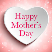 Šťastné matky den na zeleném pozadí — Stock vektor