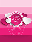 Happy Mother Day Heart Tag Background — Stock Vector