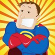 Super Man Hero Dad. Happy Father Day - Stockvectorbeeld
