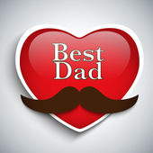 Happy Father Day Mustache Love — Vector de stock