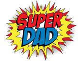 Padre padre feliz día súper héroe — Vector de stock