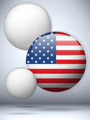 United States Flag Glossy Button — Stockvektor